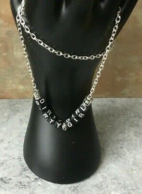 AU11.21 • Buy DIRTY GIRL Silver Plated Chain 16  Necklace Unwanted Xmas Gift HW HGF CD TV TG
