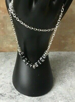 AU11.95 • Buy DIRTY GIRL Silver Plated Chain 18  Necklace Unwanted Xmas Gift HW HGF CD TV TG