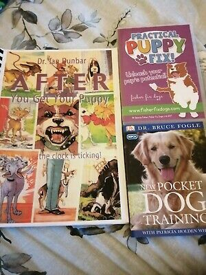 Puppy Training Bundle 2 X Books And DVD. Dog Training Dr Ian Dunbar • 15£