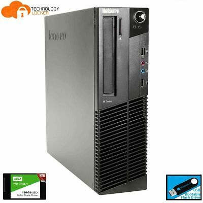 AU140.25 • Buy Lenovo ThinkCentre M92p SFF Desktop PC Intel I5-3470 4GB RAM 500GB HDD Win 10