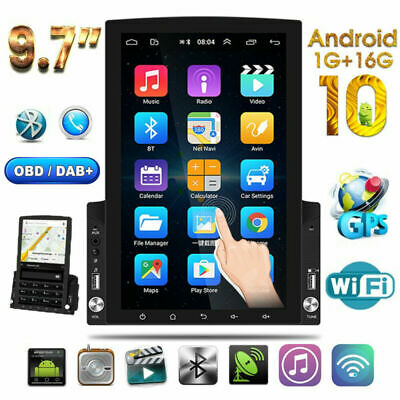 $195.79 • Buy 9.7 Inch Vertical Car Stereo Radio Android 10 2DIN FM Touch Screen GPS Bluetooth