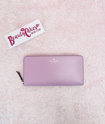 $ CDN77.57 • Buy 💞 Kate Spade Kali Large Continental Zip Around Quartz Pink Soft Leather Wallet