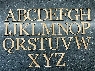 3cm-30cm Wooden Letters 4mm Thick MDF Small Extra Large Craft Signs Home • 2.25£