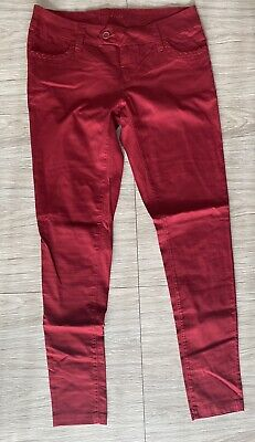 $14 • Buy Freestyle Revolution Woman's Flat Front Skinny Stretch Red Pants Size 11