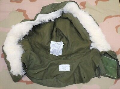 $24.95 • Buy Original US Army M-1965 Fishtail Parka Hood With Synthetic Fur Ruff (unissued)