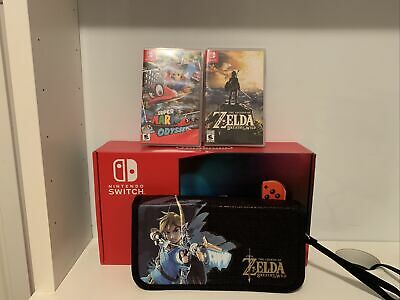 $ CDN549.99 • Buy Nintendo Switch With Super Mario Odyssey & Breath Of The Wild FREE 🇨🇦SHIPPING