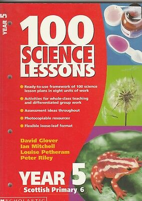 100 Science Lessons For Year 5 By Riley, Peter D. Paperback Book C121 • 5.95£