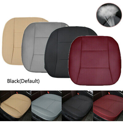 $ CDN26.67 • Buy Universal Car Front Seat Cover Breathable PU Leather Cushion Protector Mat Black