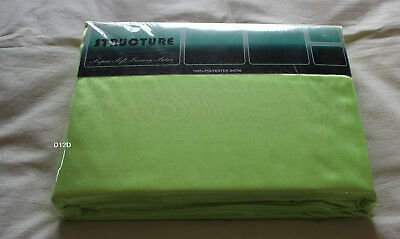 AU29.95 • Buy Lime Coloured Queen Bed Satin Fitted Sheet Set New