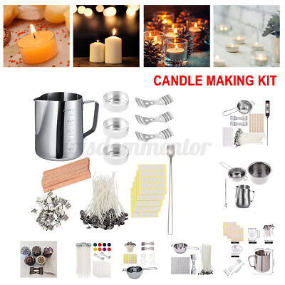 Candle Making Kit DIY Candles Craft Tool Set Pouring Melting Pot Wicks Wax Spoon • 11.99£