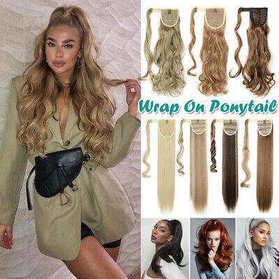 £8.90 • Buy Real Natural Hair Piece Clip In As Human Hair Extension Wrap On Ponytail Blonde