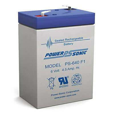 AU11 • Buy Power Sonic PS640 4.5A 6V SLA Rechargeable Battery Sealed Lead Acid F1 Terminal