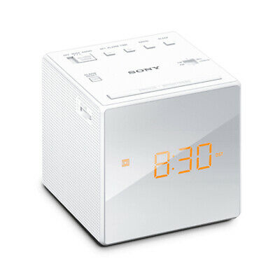 AU39.95 • Buy Sony White Single Alarm/Clock/FM/AM ICF-C1 Radio W/ LCD Mirror-Finished Display