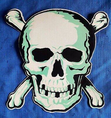 $ CDN76.29 • Buy Vintage 1950's Die Cut Merri Lei Halloween Skull Crossbones Cardboard Decoration