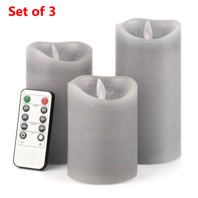 £11.99 • Buy 3Set Flickering LED Candles Real Wax Battery Powered Lights Remote Control Lamps