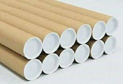 $49.46 • Buy 50 - 2  X 24  Cardboard Shipping Mailing Tube Tubes Cores With End Caps