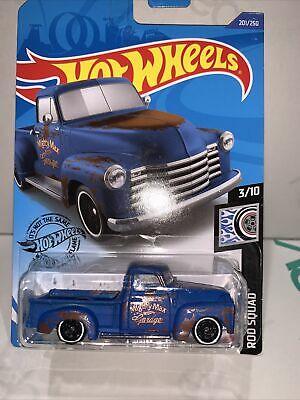 AU8.95 • Buy Hot Wheels '52 Chevy Pickup Truck [Blue] - New/Sealed/VHTF LONG CARD ROD SQUAD