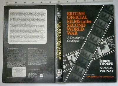 British Official Films In The Second World War~1st Edition, 1980 • 30£