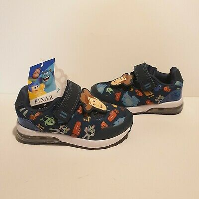 £10.99 • Buy George Asda Pixar Toy Story Cars Monsters Inc Blue Trainers Jnr UK 4 New Tags