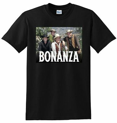 BONANZA T SHIRT Tv Show Season 1 2 3 Dvd Poster Tee SMALL MEDIUM LARGE Or XL • 15.91£