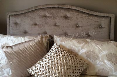 £37.95 • Buy New Design Dews Buttoned Studded Bed Headboard In Soft Plush Fabric 30  Height