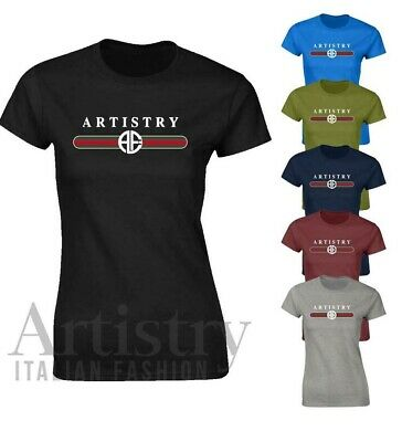 Ladies Womens Artistry LOGO Plain Coloured Cotton Fitted T-Shirts Tee Shirt Top  • 4.99£