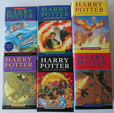 $ CDN150 • Buy Harry Potter 2-7 Incomplete Set Lot Of 6 Hardcover Books Bloomsbury Raincoast
