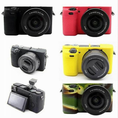 $ CDN19.40 • Buy Soft Silicone Rubber Camera Pouch Cover Case For Sony A6000 ILCE-6000L 16-50mm