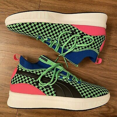 Puma Basketball Clyde Court Summertime Green Blue Sneakers 192893 01 Men Size 10 • 48.94£