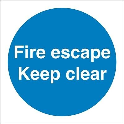 Fire Escape Keep Clear Sign 100x100mm SS007SA Castle Genuine Top Quality Product • 3.02£