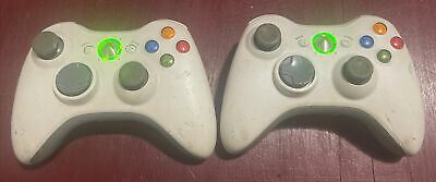 AU54.95 • Buy GENUINE! 2x Xbox 360 Controller Microsoft Bundle Bulk Wireless (White) TESTED
