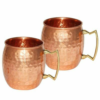 £24.84 • Buy Pure Copper Moscow Mule Mug Set Of 2 Christmas Gifts Barware Vodka Whisky Beer