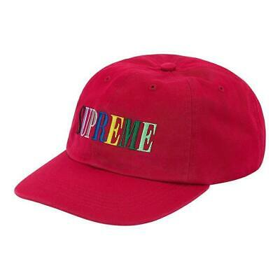 $ CDN91.13 • Buy Supreme Multicolor Logo 6-Panel Hat Red