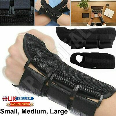 £3.79 • Buy Carpal Tunnel Splint Wrist Brace Hand Support Fractures Right & Left Size S/M/L