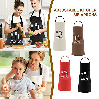 Chefs Apron With Pockets, BBQ, Baking & Catering Apron For Men Women Ladies • 6.99£