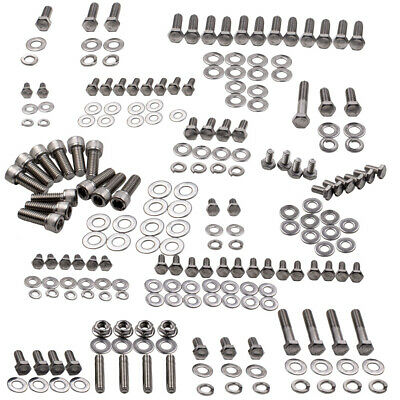 AU136.30 • Buy Siver Stainless Engine Bolt Kit Fit For Chevy 305 307 327 350 400 SBC Engine