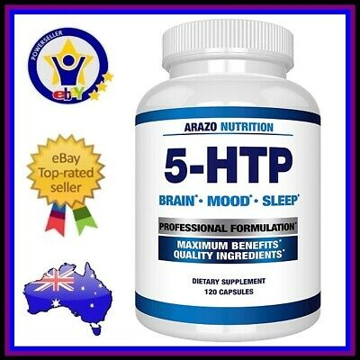AU64.95 • Buy ARAZO NUTRITION 5-HTP 200mg Serotonin Brain Mood Deep Sleep Support Supplement