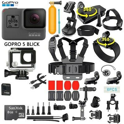 $ CDN239.28 • Buy GoPro Hero 5 Black Edition Action Camera + 40PCS/Set Sports Accessory Bundle