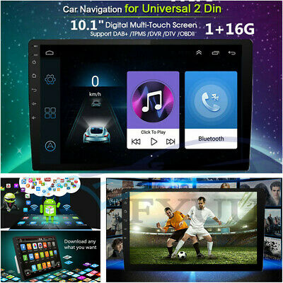 AU172.62 • Buy 10.1  2DIN Touch Android 7.1 Car GPS Navi Stereo Radio MP5 Player FM Mirror Link
