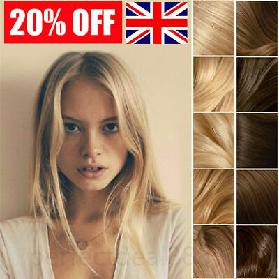 £19.99 • Buy 1G Double Drawn Micro Ring Loop Remy Human Hair Extensions Nano Beads Pre Looped