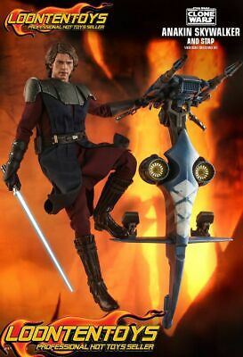 $ CDN502.61 • Buy Hot Toys 1/6 TMS020 – Star Wars: The Clone Wars - Anakin Skywalker And STAP Set