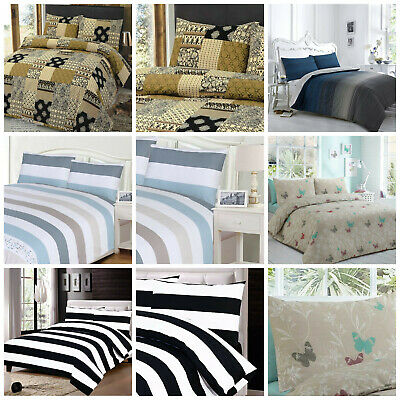 £20.90 • Buy 100% Egyptian Cotton Duvet Quilt Cover Set Double King Super King Size Bed Sheet