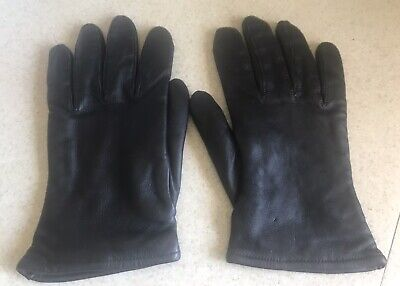$9.99 • Buy Sam I Military Black Leather Gloves  With Wool Blend Lining Size 9