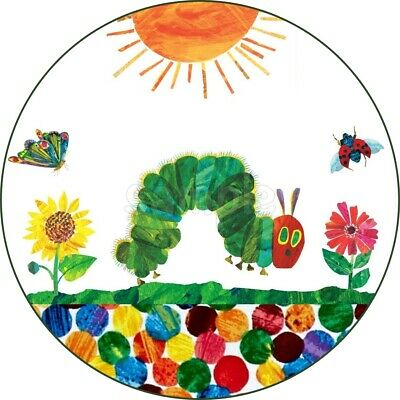 The Very Hungry Caterpillar Edible Cake Topper Wafer Icing Birthday Party Deco • 6.50£