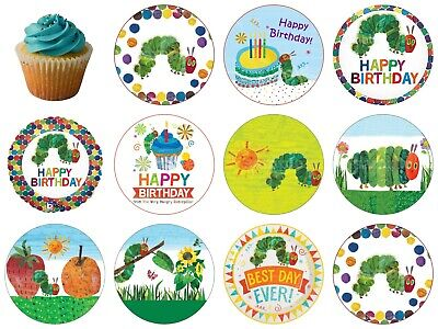 The Very Hungry Caterpillar Edible Cake Topper Wafer Icing Birthday Party Deco • 4.50£