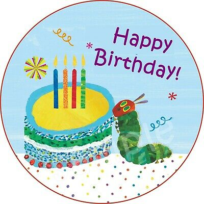 The Very Hungry Caterpillar Edible Cake Topper Wafer Icing Birthday Party Deco • 7.99£