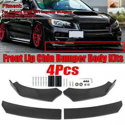 $49.37 • Buy Carbon Fiber Front Bumper Lip Spoiler Splitters Body Kit For Honda Civic Accord