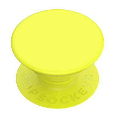 AU9.95 • Buy PopSockets Neon Jolt Yellow Gen2 Universal Swappable PopGrip W/ Base For Phones