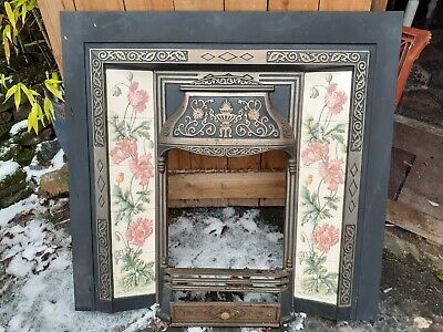 Victorian Style Cast Iron Tiled Fireplace • 225£