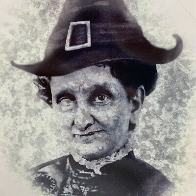 $ CDN15.78 • Buy Halloween Witch Old Hag Wiccan Mirror Window Cling Haunted House Decoration